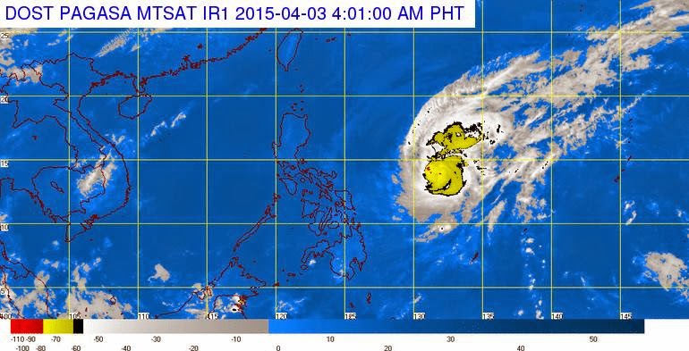 Bagyong Chedeng slow down but maintained strength (April 3)