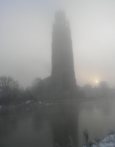 Boston Stump in the fog