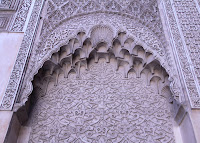 Muqarnas are stalactite or honeycomb ornament that adorn cupolas or corbels of a building