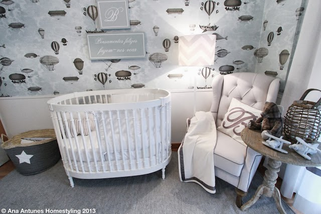 Ro Designer Quarto de Bebê Cinza
