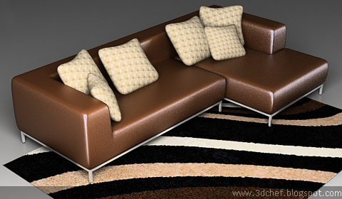 Free 3ds Max Model Leather Sofa3D Chef'sFree 3D Model