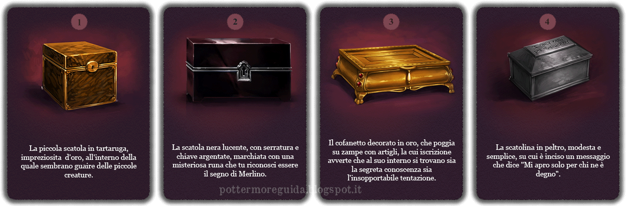 Domanda 18: Davanti a te ci sono quattro scatole. Quale vorresti provare ad aprire?