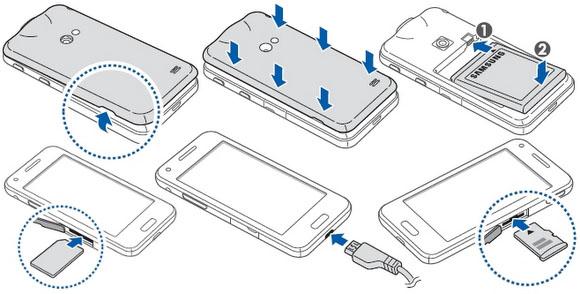 Samsung Galaxy S4 Sim Card Insert