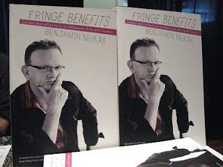 Copies of Benjamin McKay's 'Fringe Benefits' at The Annexe, Central Market