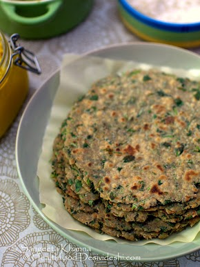 101 alternative flours : jowar methi paratha | flat bread made with sorghum flour and fenugreek leaves | how to cook millet flours