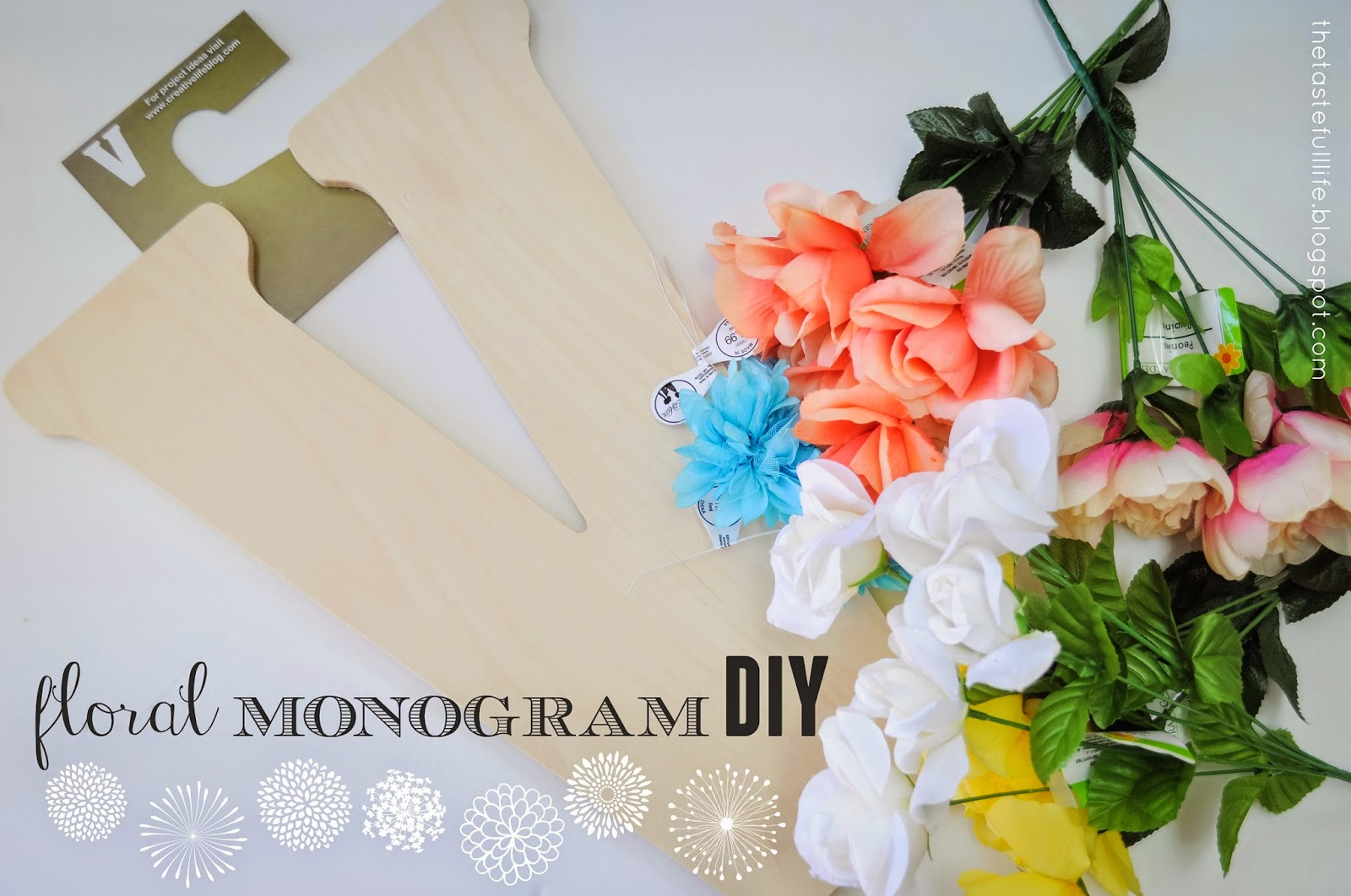 Floral Monogram Diy Pretty Real