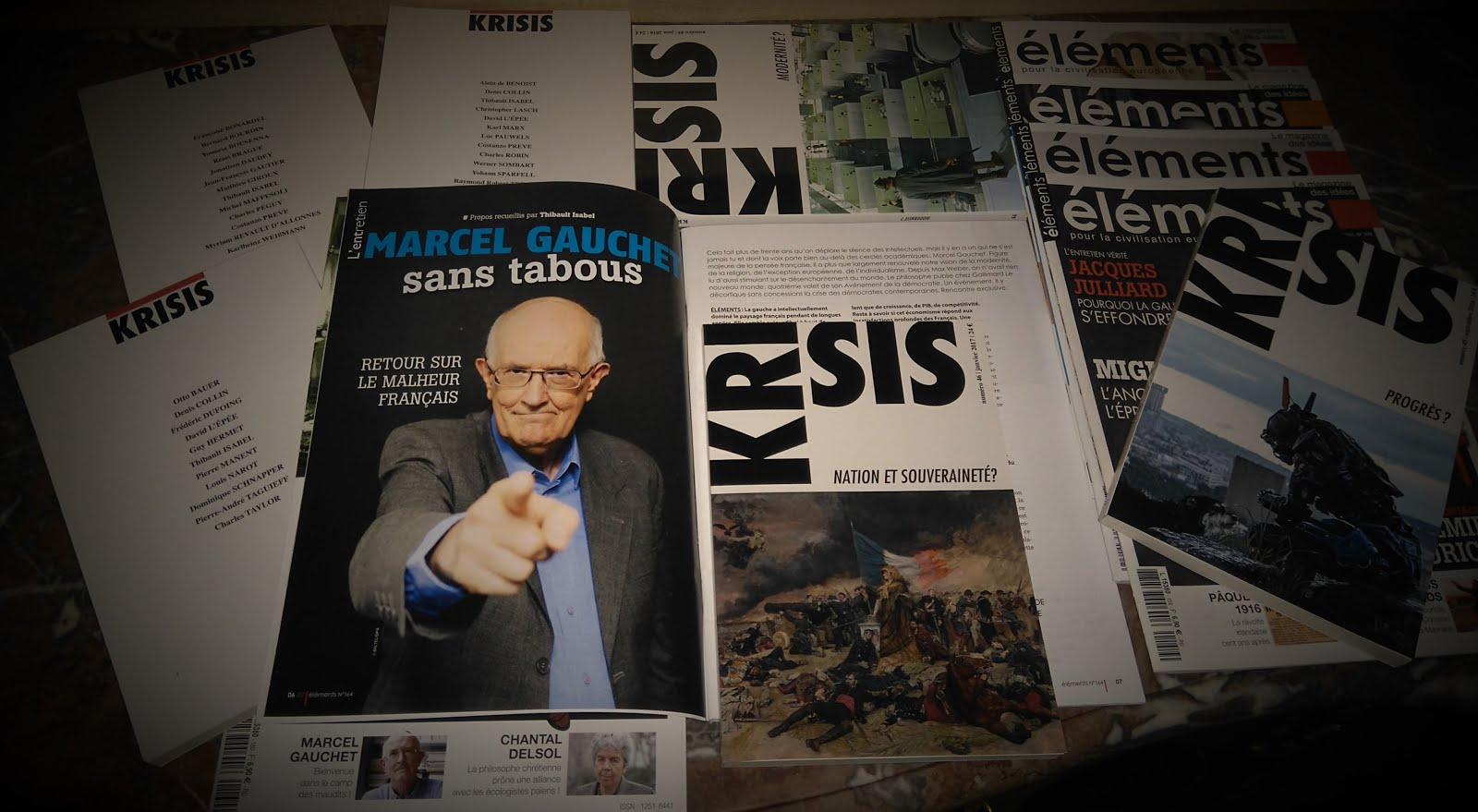 Janvier 2017 L'actualité des revues Eléments / Krisis