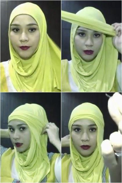 cara memakai jilbab zaskia adya mecca simpel dan unik
