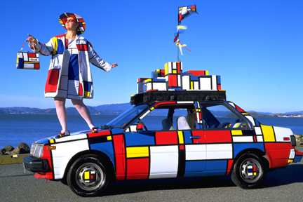 Mondrian Mobile by Emily Duffy - Art Car Central