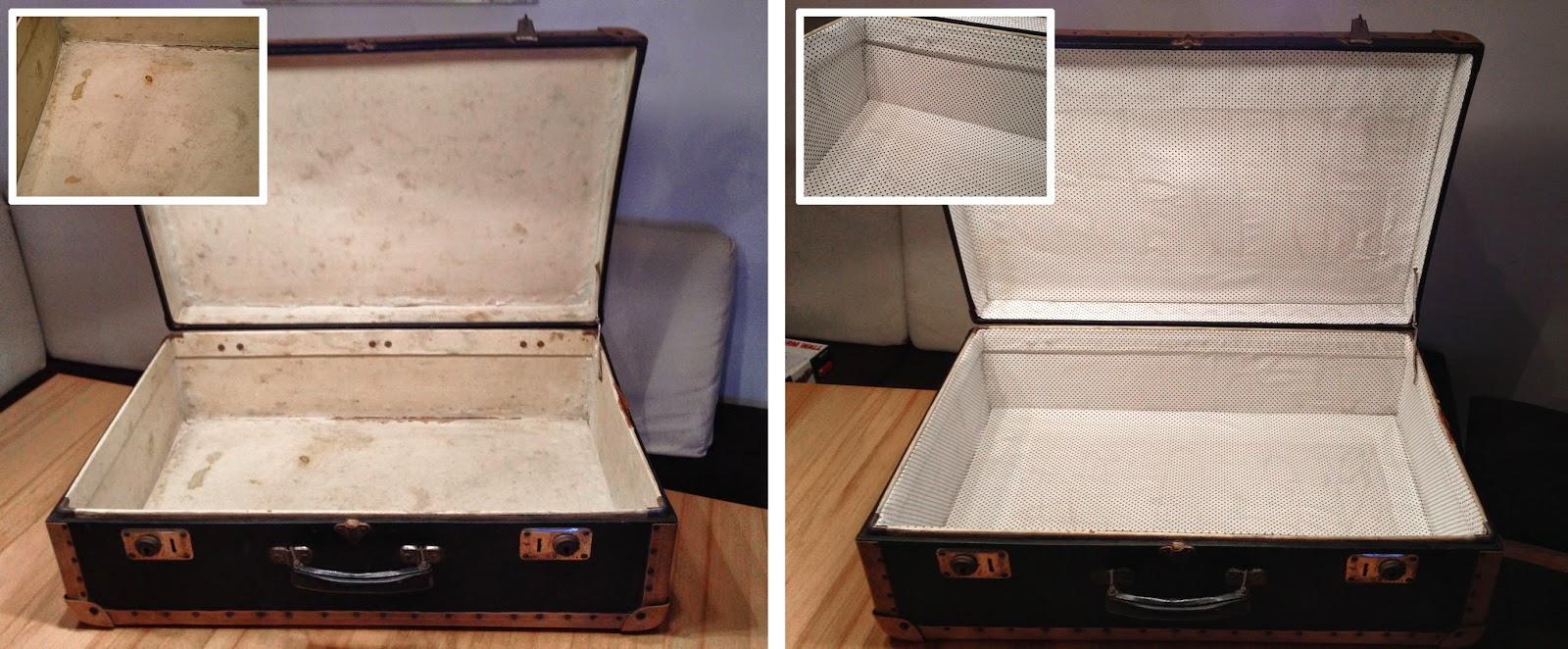 Alter Koffer Deko handcraftmarie ein alter koffer bekommt ein neues innenleben