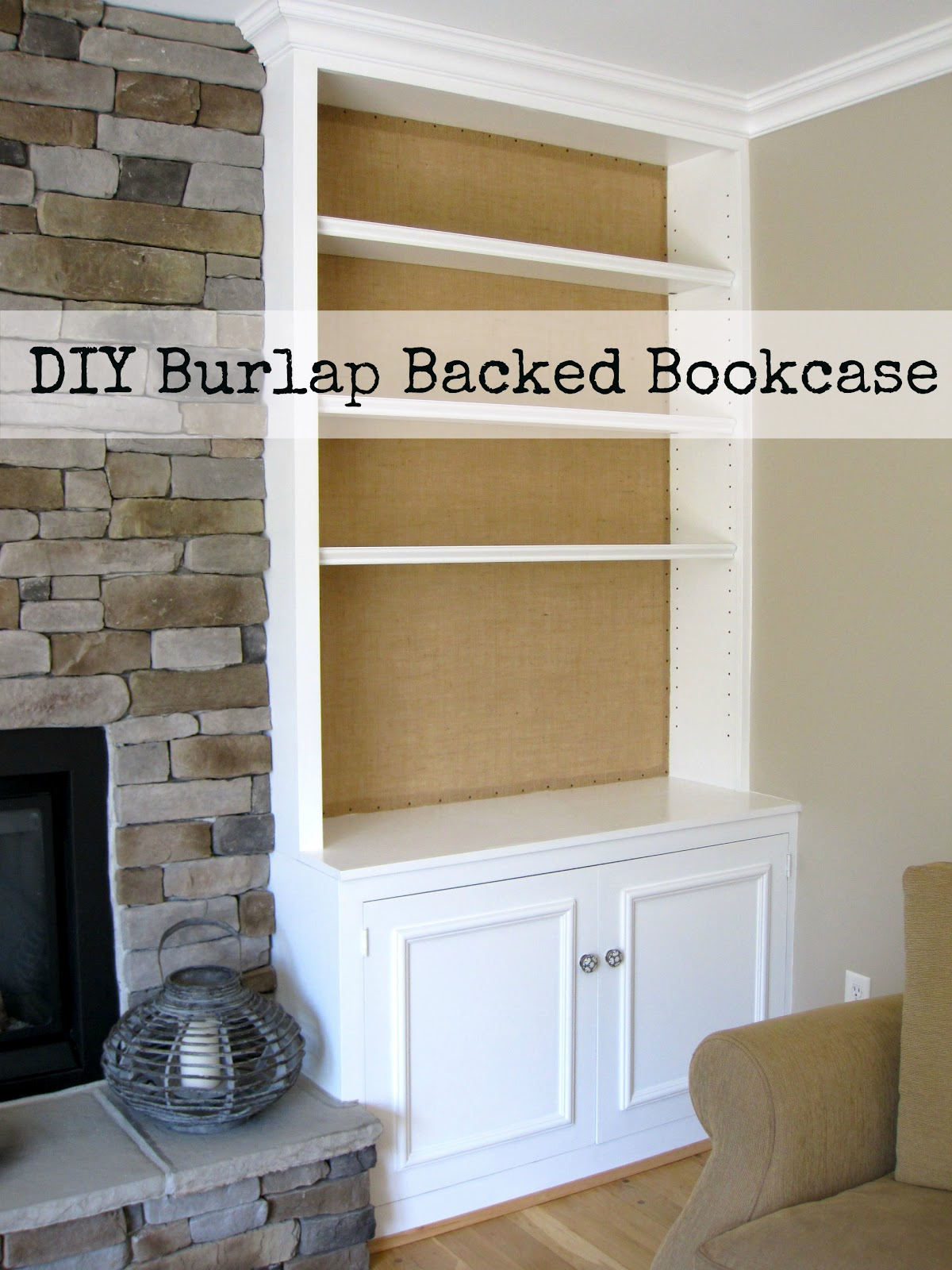 DIY Project: Burlap Backed Bookcases | Driven by Decor