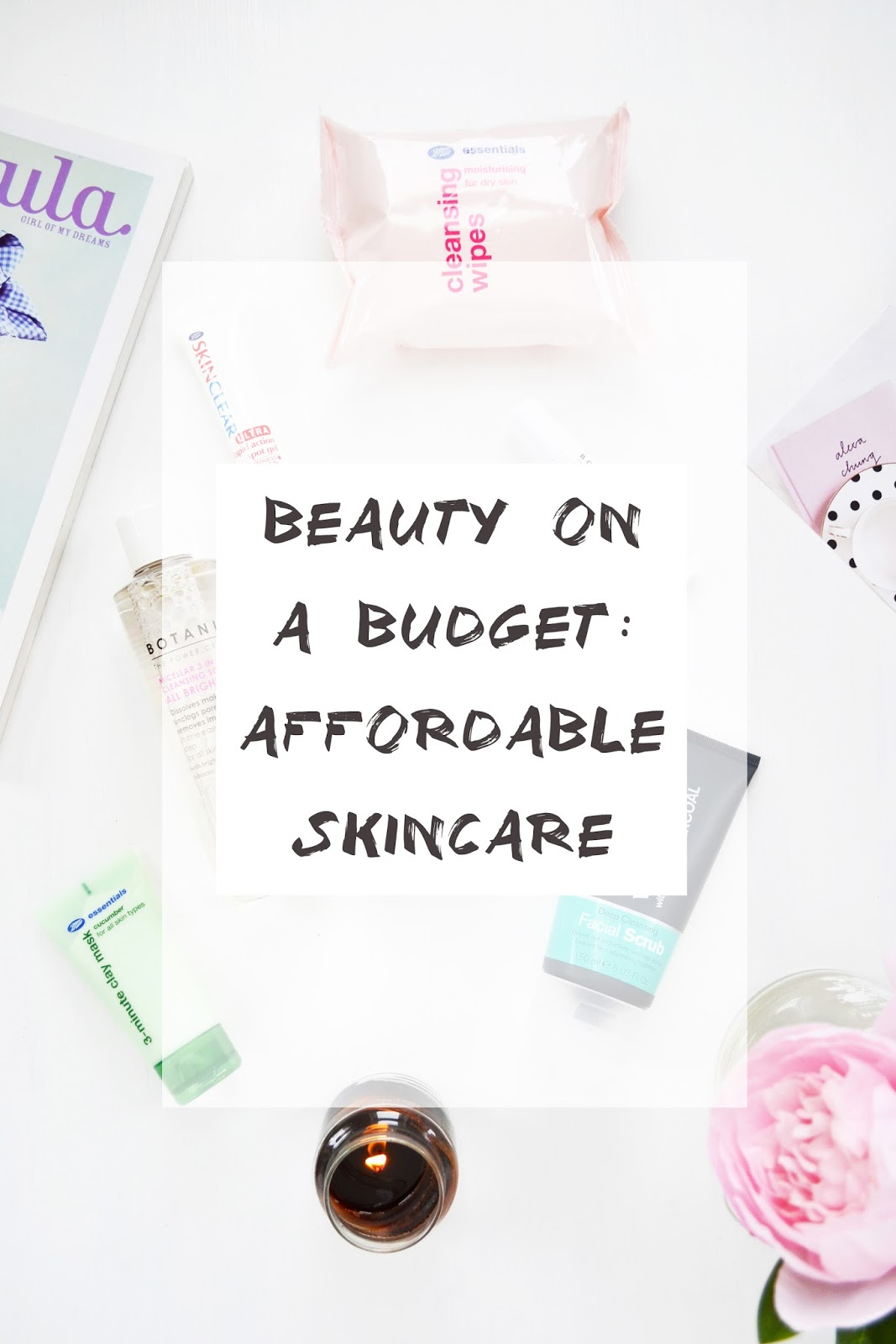 affordable skincare if you're on a budget