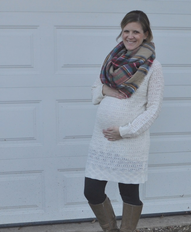winter maternity outfit