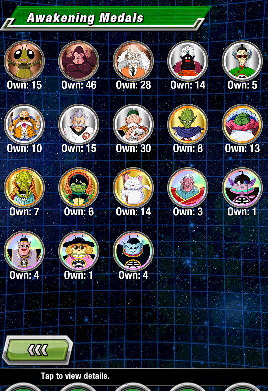 dragon ball dokkan battle awakening medals