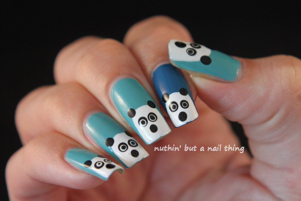 Nuthin but a nail thing panda nail art i do love a good bit of panda nail art really cute and easy to do prinsesfo Images