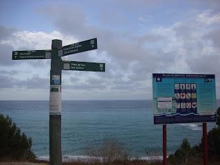Platja del Torn Nudist Beach information board photo