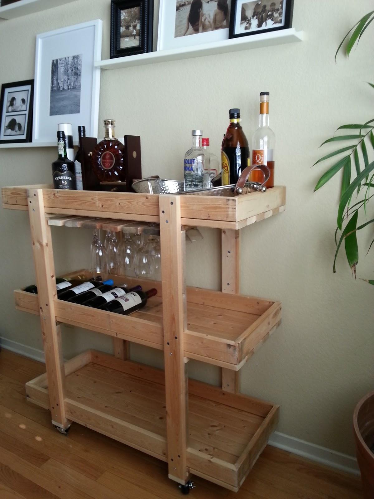 The Nifty Nest Diy Bar Cart