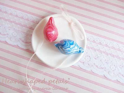 Ring bearer dish love birds colorful