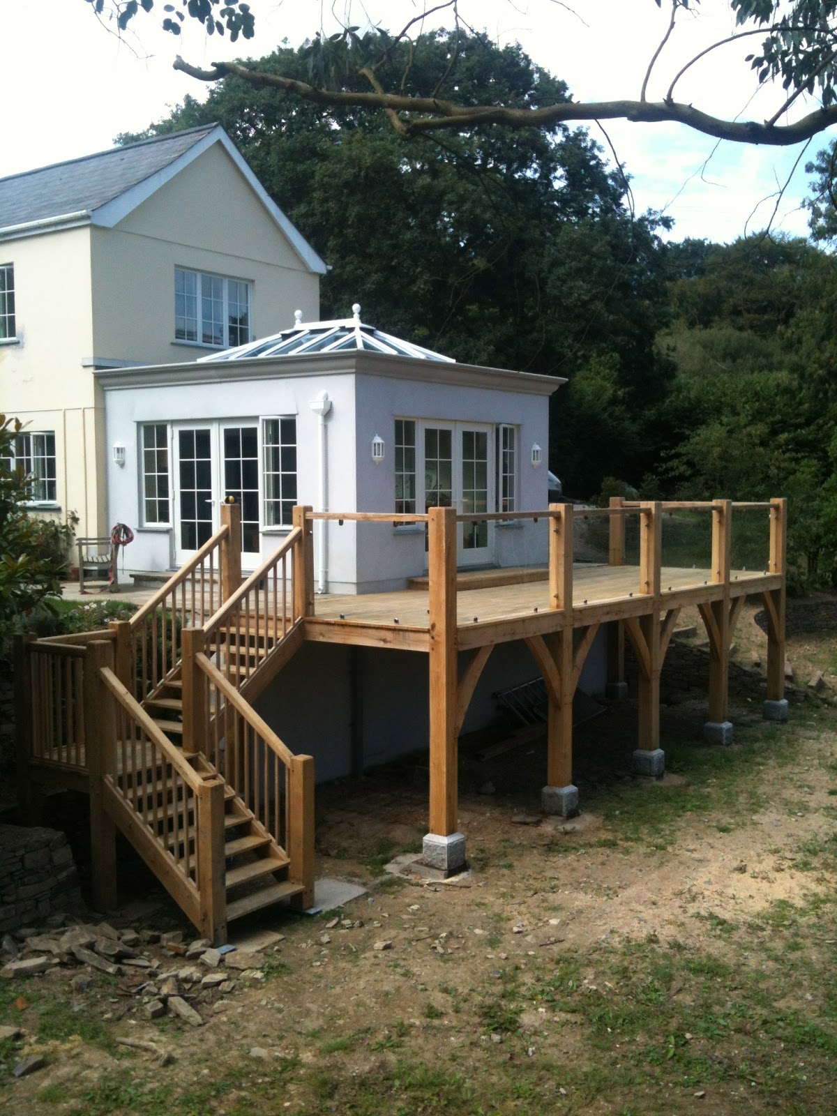 Trengayor Wood Works Raised Decking And Stairs Completed