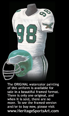 Philadelphia Eagles 1989 uniform
