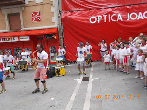 Public entertainment at San Fermin festival in Pamplona.