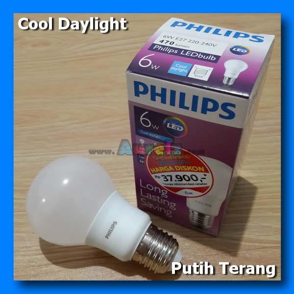 lampu led philips 6 watt cool daylight