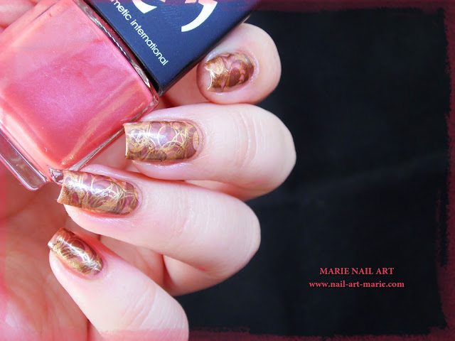 Nail Art Double Stamping Automnale6
