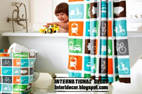 latest designs of kids shower curtains
