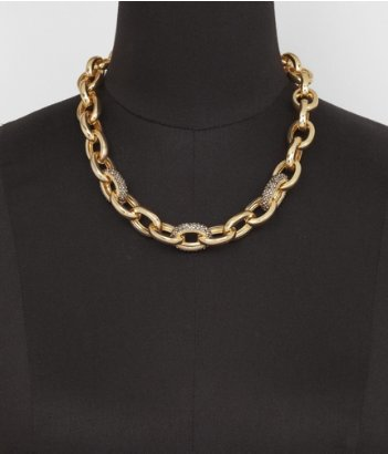 Express Pave Embellished Cable link necklace, chain necklace