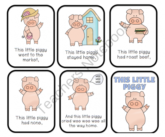 This Little Piggy Went To The Market Printable Preschool