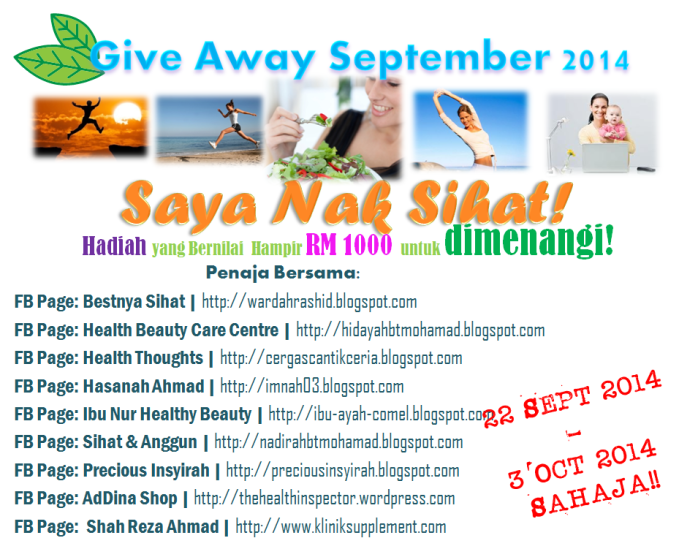 http://thehealthinspector.wordpress.com/2014/09/22/saya-nak-sihat-giveaway/