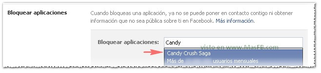 Bloquear Candy Crush Saga