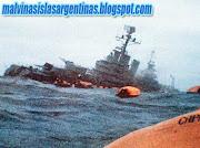 Islas Malvinas Argentinas: Crucero A.R.A General Belgrano crucerogeneralbelgranohundiendose