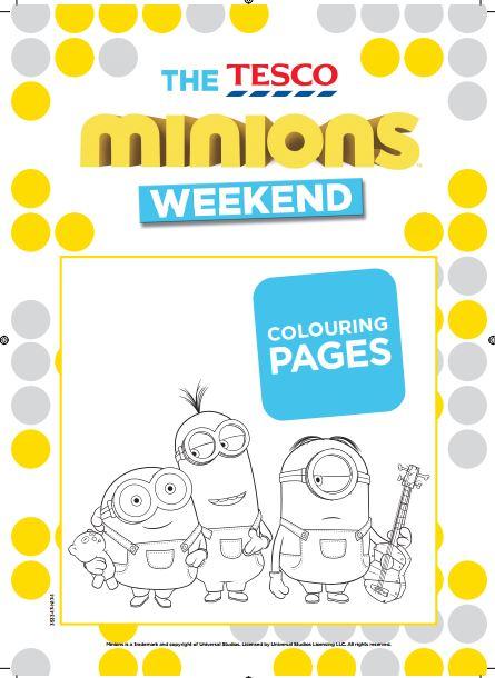 Libro para Colorear de los Minions para Imprimir Gratis. | Oh My ...