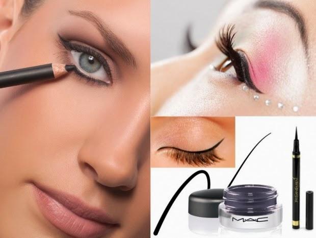 makeup -Apply-eyeliner