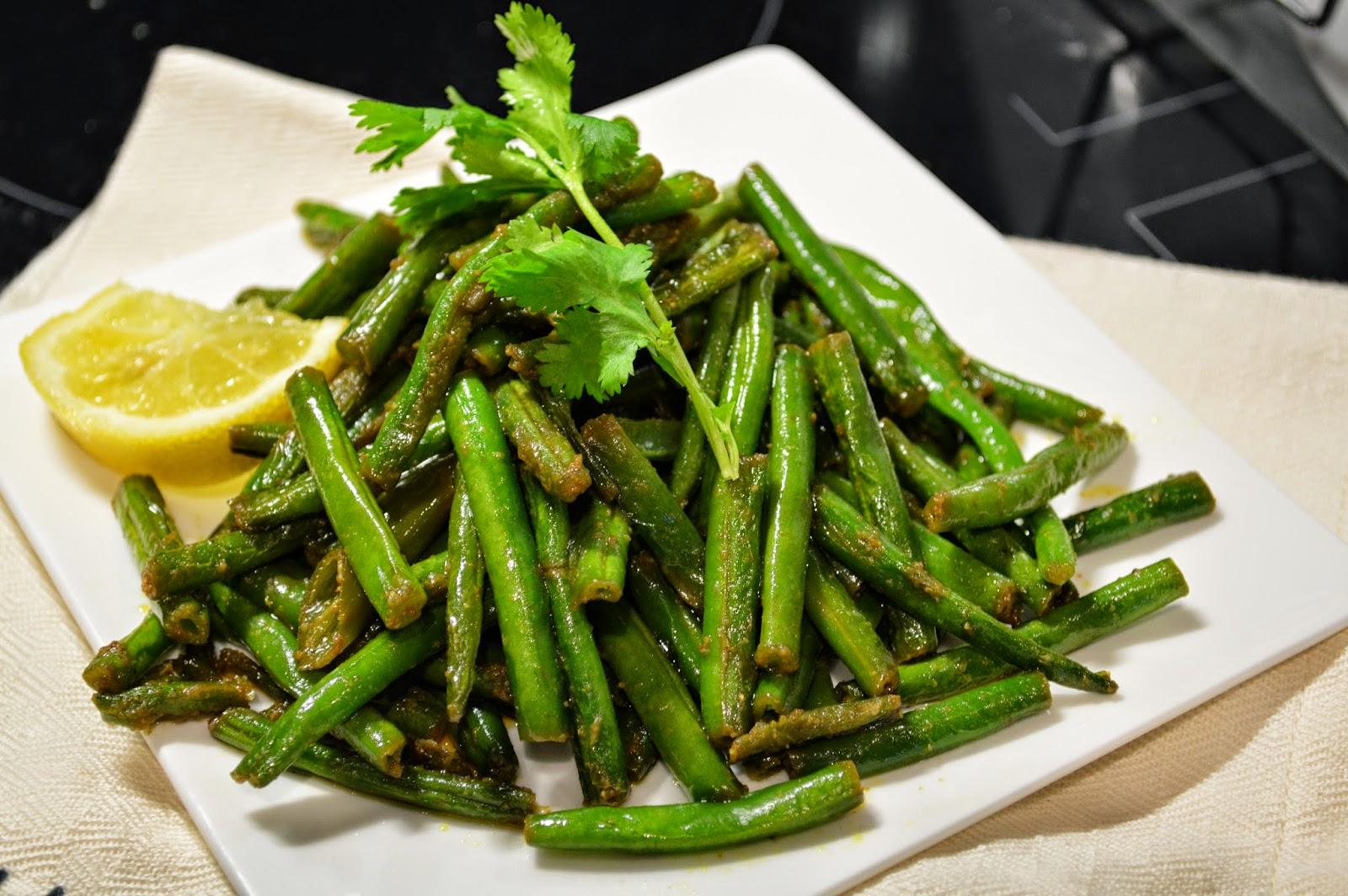 Green beans sabzi - Meat free Monday
