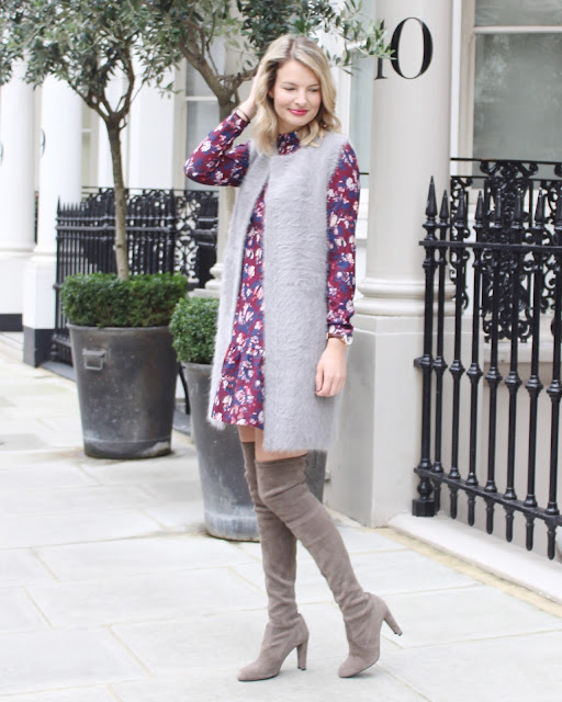 layered look, zelle studio, closet london, closet london dress, stuart weitzman boots, russell and bromley boots, london blogger, fashion blogger
