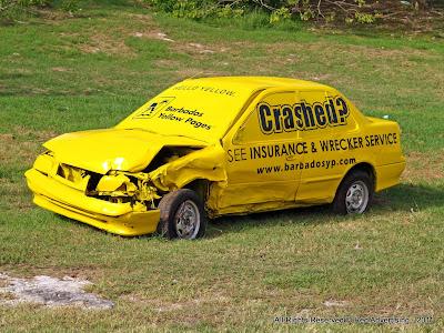 YP crashed car