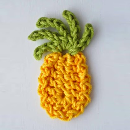 Pineapple Fridge Magnet Crochet Pattern