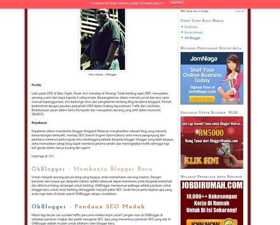 Berbaloi Rasanya Apabila Berikan Kejayaan Pada Blogger Lain