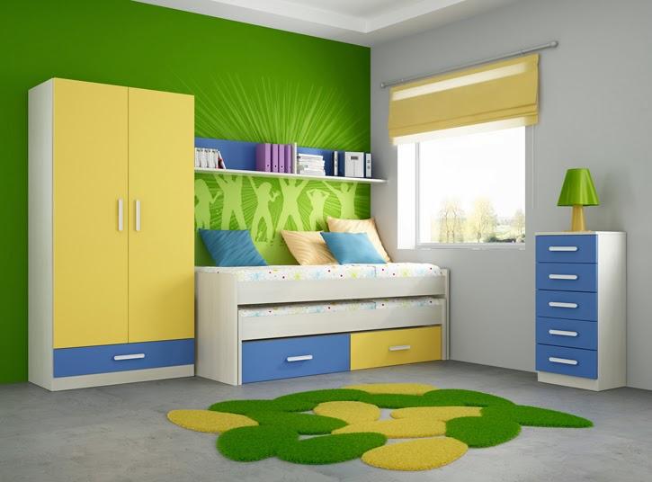 Dormitorio juvenil para varones recamara juvenil en azul for Cuarto azul con gris