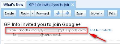 Google+ Valid E-mail Address Sender