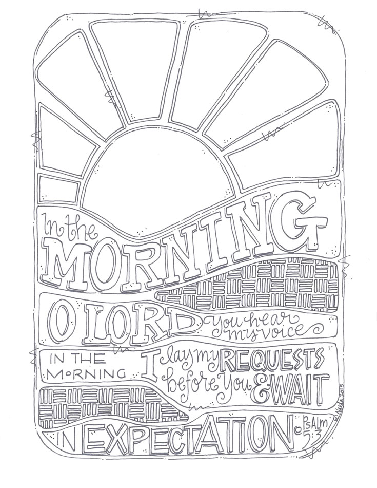 Sample From The Creative Call Coloring Book