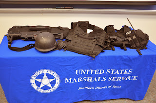 Some of the gear worn by U.S. Marshals.