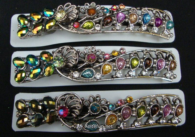Metal Plated Fabulous & Mind Blowing Alligator Hair Clips - Hair Accessories