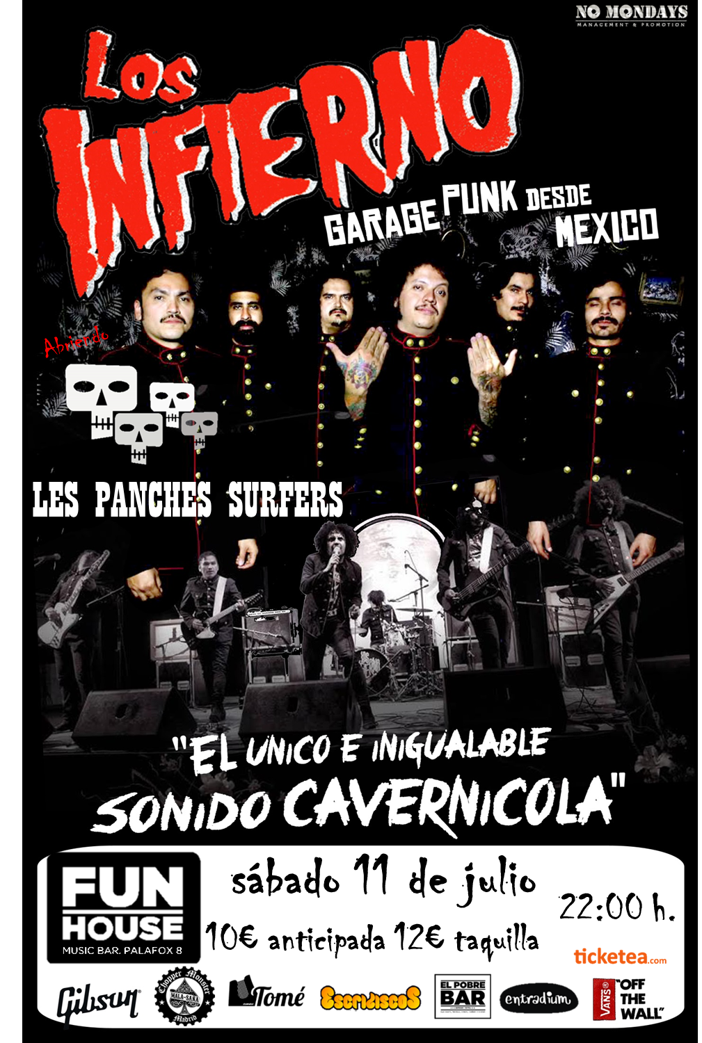 Los Infierno + Les Panches Surfers - 11/07/2015 - Fun House