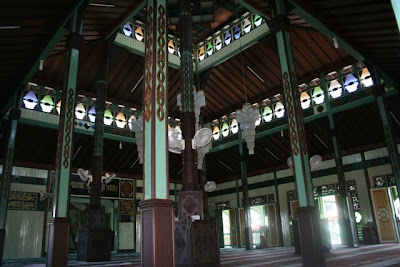 Interior of The Mosque, Sultan Suriansyah Mosque, Kuin, Banjarmasin, South Kalimantan