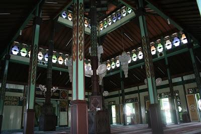 Interior of The Mosque, Sultan Suriansyah Mosque, Kuin, Banjarmasin, South Kalimantan