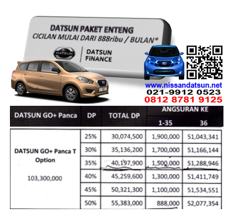 KREDIT DATSUN GO+ PANCA T OPTION PAKET ENTENG