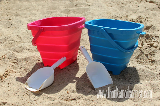 Packable Pails beach buckets